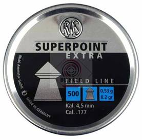 RWS Superpoint Extra 0,53g 4,5mm 500kpl - Ilma-ase luodit 4,5mm - 4000294136719 - 1