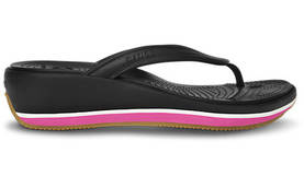 Crocs Retro Flip Wedge Black/Fuchsia - Naisten Crocsit - 14120BF - 1